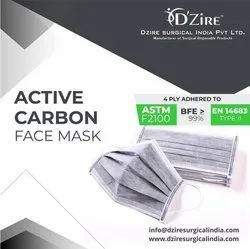 Active Carbon Face Mask / 4 Ply Facemask
