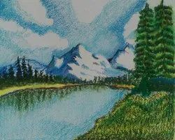 Shilpi Matte Soft and Oil Pastel Painting