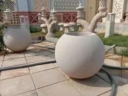 Beige Sandstone Flower Pot