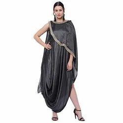 Grey CNC Silk Gown