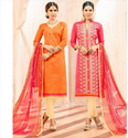 Cottan Jaqard Work And Cotton Jaqard Work Chinki Pinky Salwar Suits-sparxz38