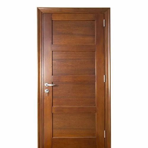 Brown Waterproof Veneered Door