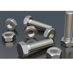 APL Round SS NUT BOLT, For Industrial, Size: 1 To 10
