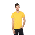 Mens Cotton Yellow Solid Casual T-shirt, Size: S To Xxl