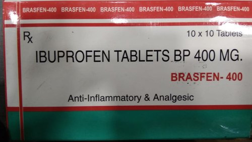 Maiden Pharma Medicine Grade Ibuprofen Tablets Bp 400 Mg, Packaging: Strips