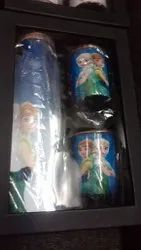 Frozen Print Copper Bottle Set