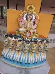 Marble Lord Surya Statue