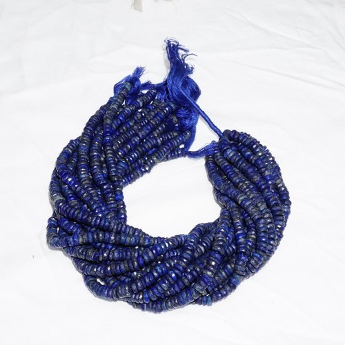 Lapis Lazuli Rondelle Faceted Beads