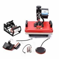 Combo Heat Press Machine - 5 in 1 (Red)