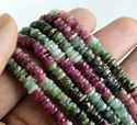 Multi Tourmaline Tyre Smooth Beads