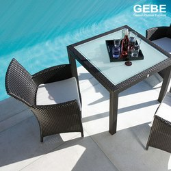 GEBE Outdoor Dining Set (Wicker), Seating Capacity: 4 Chairs + 1 Table