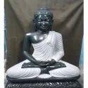 Black and White Marble Buddha Statue