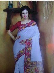 White Bhagalpuri With Good Quality Sari