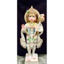 Marble Standing Hanuman Statue