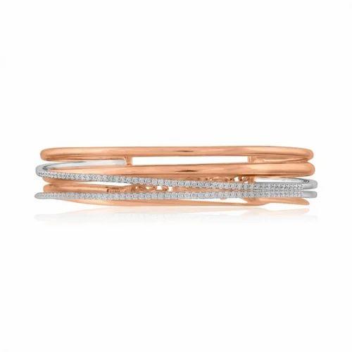 f53d5ae88b6 Gemone 14k Rose Gold White Diamond Bracelet For Women's, Rs 45000 ...
