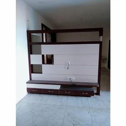 Wood Wooden Partition Tv Unit Rs 1500 Square Feet D P C Enterprises Id 20604760197