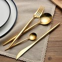 Gold Plated Brass Flatware Set