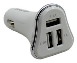Quick Charge White Car Chargers, 12 ~ 24 DC