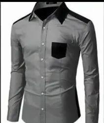 Plain Collar Neck Formal Shirts