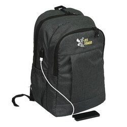 Black Nylon Laborio Laptop Bag, Number Of Compartments: 2, Bag Capacity: 30 Liter