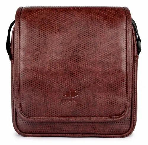 58d50a6d47 The Clownfish Vegan Leather Tablet Sling Bag, Messenger Bag, Cross Body Bag  (Brown