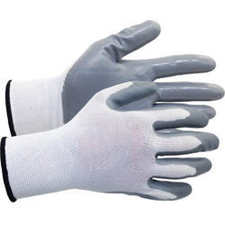 White Latex Coated Cotton Gloves