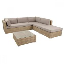 Wicker L Shape Sofa Set