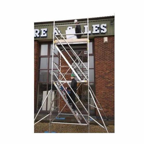 4 rung ladder frame. BOSS Aluminium scaffolding Tower 1450 x 2m