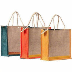 Green , Yellow Promotional Jute Bags