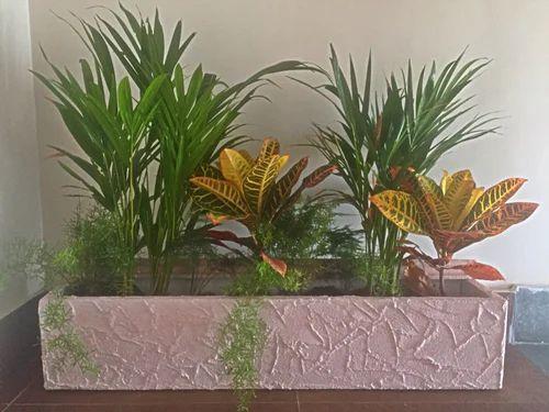 Custom Lightweight Durable Polystyrene Flower Pots Cement Coated