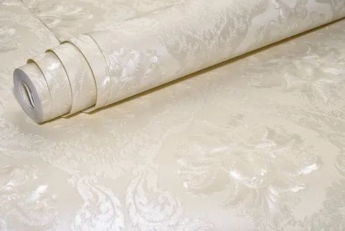 Damask Wallpaper Luxury Italian European Classic Metallic Textured Shiny Vinyl Wall Paper Roll