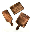 Burnt Wood Finish Wooden Food Platters