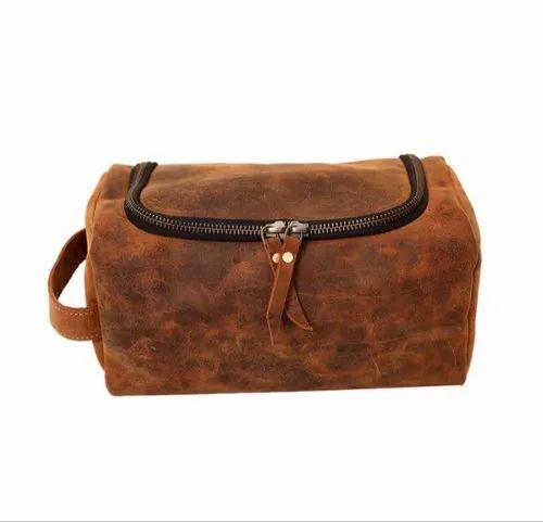 Toiletry Bag Mens Leather Dopp Kit