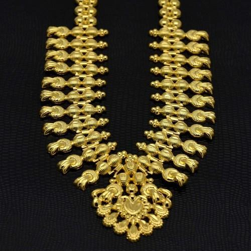 d6ed94c55 Kollam Supreme Micro Gold Plated Traditional Bridal Necklace, Rs 950 ...