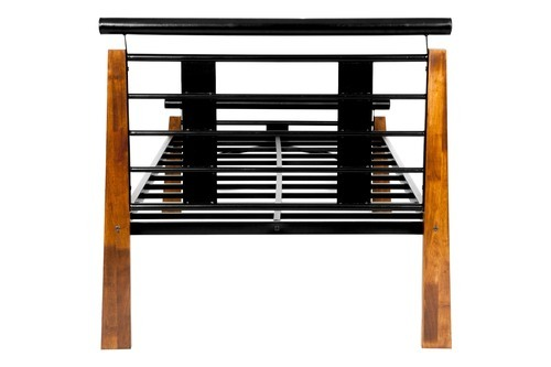 Black Rubber Wood Single Bed Size 198 1 X 105 4 X 102 9 Cm Rs