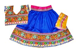 Navratri Wear Gujarati Traditional Chaniya Choli - Kids Garba Costume - 28 Size - 7 to 10 Year