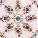 Table Top Handmade Flowered Design Hand Painted