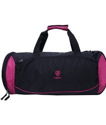 Pink And Black Duffle Bag