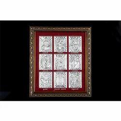9 Bhagwan Silver Frame