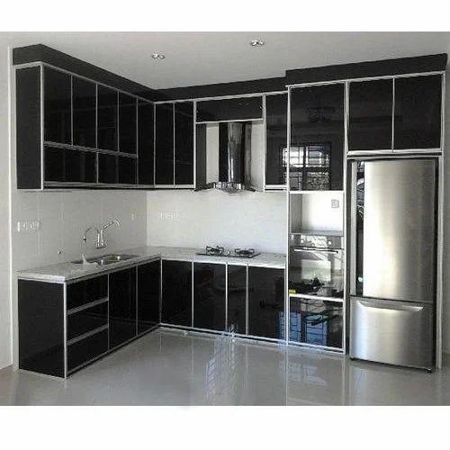 Black Kitchen Storage Cabinet Rs 20000 Piece Sowmya Aluminium