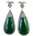 Green Onyx Designer Earring