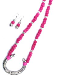 BJ002 Handmade Oxidized Thread Beads Necklace