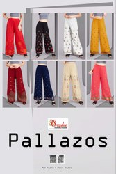 Pallazos- Rung Heavy Rayon With Embroidery Work Designer Palazzo