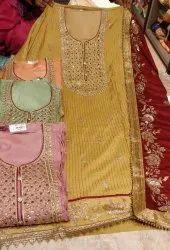 Fabric Upada Silk With Chiffon Dupatta