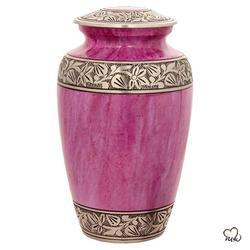 Pink Classic Alloy Cremation Urn