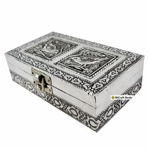 ShCraft Design Antique Silver Bird Design Handicraft Jewellery Box