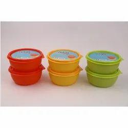 Plastics Multicolor Delight 2 Pcs Container Set, Round, Capacity: 450