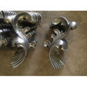 Weldable Iron Flowers Grill