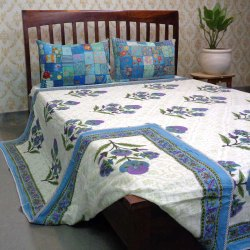 Cotton Floral Hand Block Printed Dohar (Double Bed), Size: Queen