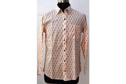Block Printed Azo Free Color Print Shirt